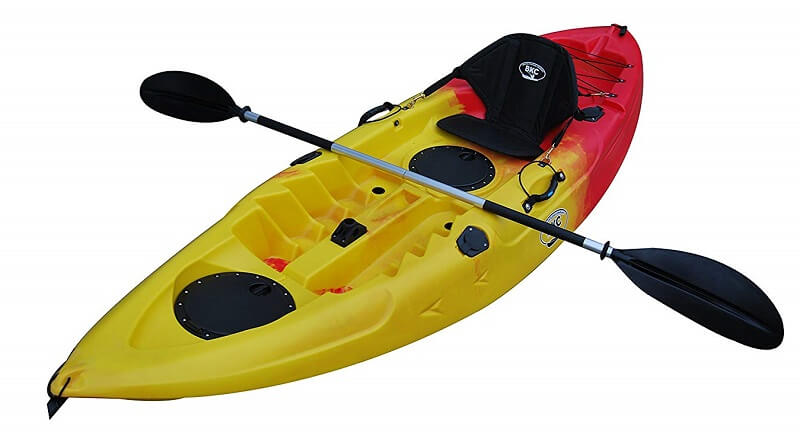 BKC UH-FK184 9 Foot Sit on Top Single Fishing Kayak